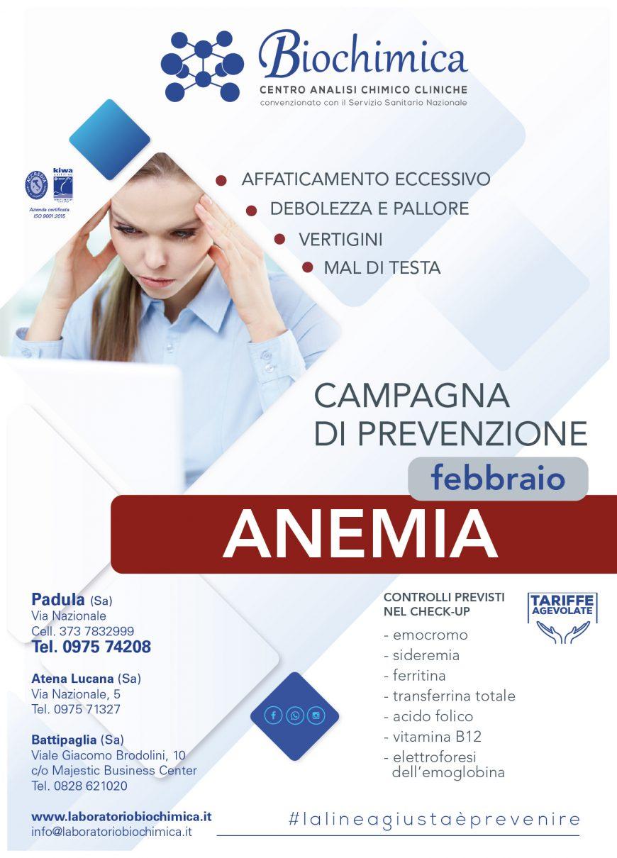 Campagna prevenzione anemia la linea giusta è prevenire
